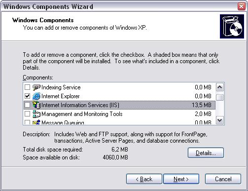 Проверка установки IIS на сервере CRM